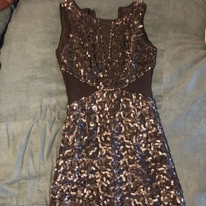 Guess leather sequin bodycon night dress